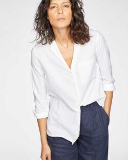 Hvit skjorte - økologisk bomull og modal » Etiske & økologiske klær » Grønt Skift