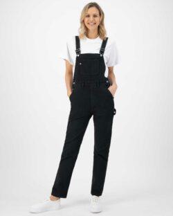 MUD Jeans - Jenn Dungaree - Dip Black - i resirkulert og økologisk bomull » Etiske & økologiske klær » Grønt Skift